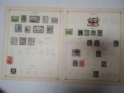 Antique Jamaica Postage Stamps 1891-1916 On Page Lot of 10 - Make an Offer