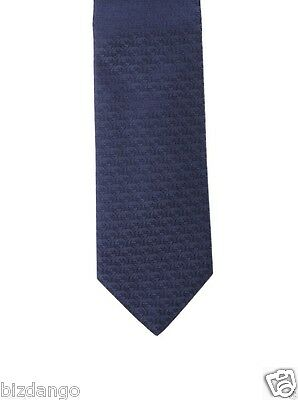 NEW TAG 100% Authentic GUCCI GG Silk Men's  Navy Tie  -Gift bag