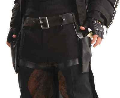 Steampunk Double Thigh Holster Black Fancy Dress Up Halloween Costume Accessory