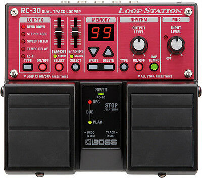 Boss RC-30 Twin Dual Track Looper Loop Station Guitar Effects Pedal RC30 New