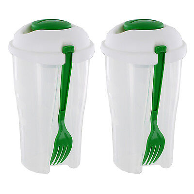Healthy Living Salad To Go with Dressing Container and Fork, Pack of 2