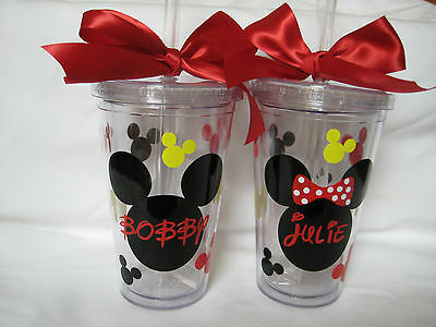 Personalized Mickey Mouse Tumbler, Personalized Minnie mouse, Disney cups