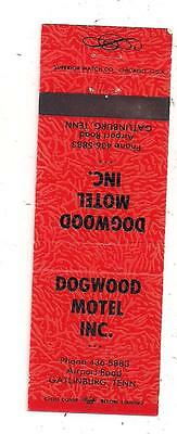 Dogwood Motel, Inc. Airport Road Gatlinburg TN Sevier Matchcover 080215