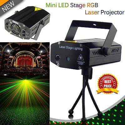 R&G LED Stage Lighting Mini Laser Projector Club Party DJ Disco Lights UK Stock