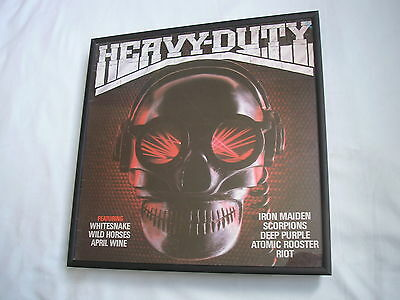 HEAVY DUTY LP cover framed for wall mounting black/silver/walnut