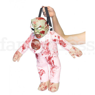 Zombie Baby Brains Backpack Bag Punk Gothic Horror Gore Halloween Fancy Dress