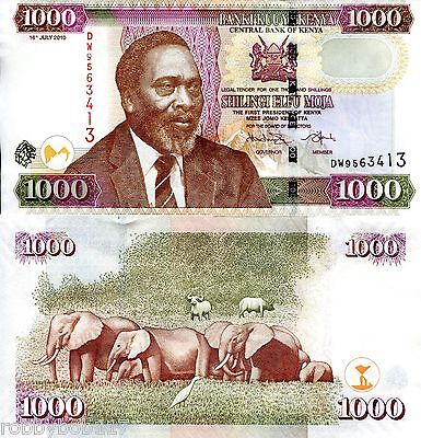 KENYA 1000 Shilling Banknote World Money Currency p51e BILL Note Africa Kenyatta