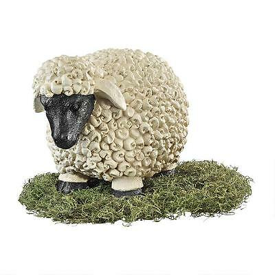 Large Victorian Sweet Dreams Curly Fleece Sheep Statue
