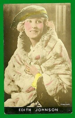 Tinted RPPC Silent Film Actress Edith Johnson 1910-20s PHOTO BY STAGE & FILM CO.