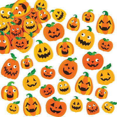 Pumpkin Foam Stickers for Children to Decorate Halloween Crafts (Pack of 128)