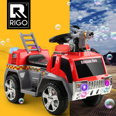 New RIGO Kids Ride On Car Fire Engine Truck Motorbike Motorcycle Toys Red & Grey