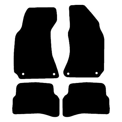 VW Passat B5.5 Fully Tailored Black Car Floor Mats Carpets 4pc Set Oval Clips