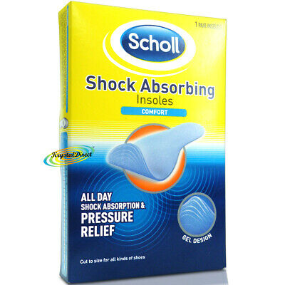 Scholl Gel Shock Absorbing Shoe Comfort Plus Insoles Feet Airpillo Foot