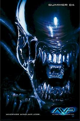 ALIEN VS PREDATOR MOVIE POSTER ~ ALIEN ADVANCE 27x40 AVP Versus Horror