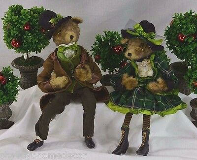 Fox Boy/Girl Posable Victorian Dress & Coat RETIRED RAZ Set 2 rzchfo 3202449 NEW