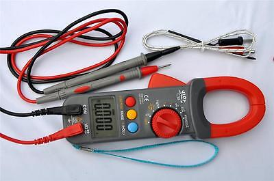 Digital Clamp Meter Ammeter Multimeter DMM+Capacitor Tester+K Thermocouple HVAC