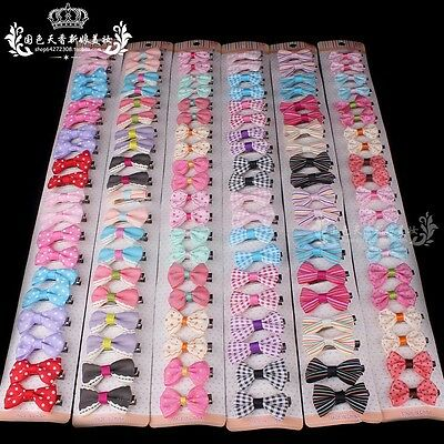 Wholesale 2/10/20pcs Mixed Toddler Baby Kid Girls Ribbon Bow Bowknot Hair Clips