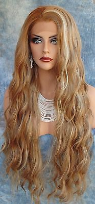 Lace Front Wig Long Rolling Alluring Waves Brown Hilight Fs8/27/613 Us Sell 257