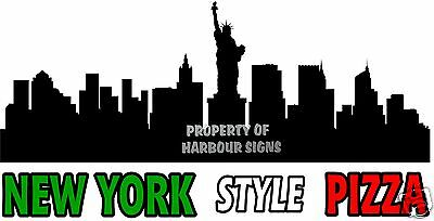 "New York Style Pizza Decal 24"" Concession Restaurant  Food Truck Sign Sticker"