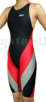 Girl's Woman Performance Competition Racing  Kneesuit Kneeskin Swimwear Sz 22-38
