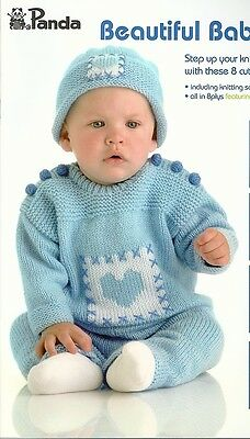 Panda BEAUTIFUL BABY  8 cute outfits in 8 ply Book 214 *New