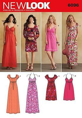 New Look Sewing Pattern Misses' Dress Knee Or Maxi Length Size 4 - 17  6096
