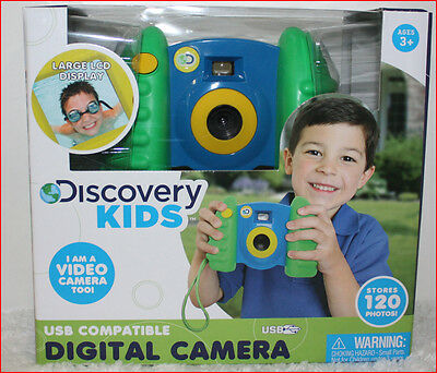 Discovery Kids DIGITAL PHOTO & VIDEO CAMERA 120 Photos USB Easy to Use BLUE =NEW