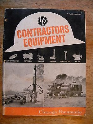 1960 Chicago Pneumatic Tool Catalog Construction Equipment Contractors Machinery