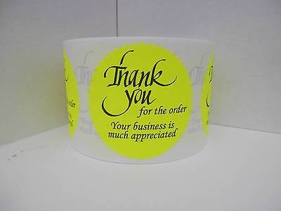 Thank you for the order Your business is much appreciated Label chart  250/rl