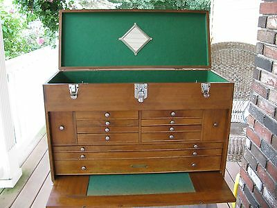 Gerstner USA large Walnut  machinist tool chest box