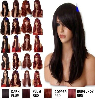 LIGHT ASH BLONDE Long Wavy Straight FULL WOMEN LADIES real Natural HAIR WIG