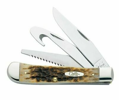 Case XX 149 Amber Bone SS Hunter Trapper Pocket Knife