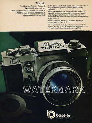 Beseler Topcon Super D Color Advertisement: Original 1971 Ad
