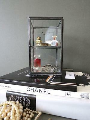 Table Display Cabinet Glass Case Jewellery Trinket Thimble Curio Box Mirrored