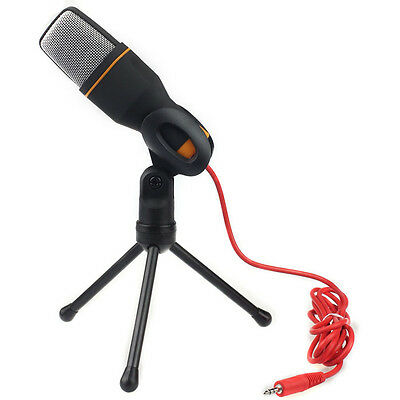 Condenser Mikrofon  Sound Studio Microphone Mic For Chat PC Laptop Skype MSN
