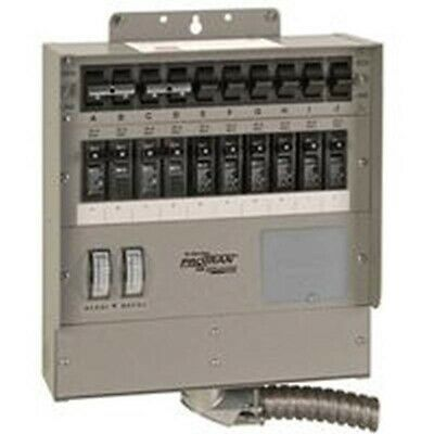 Reliance Controls 510C 10 Circuit 50 Amp Generator Transfer Switch