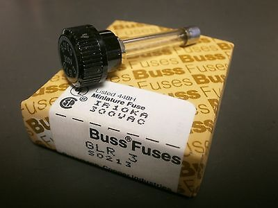 5PK Bussmann GLR3 300V 3.0A FAST ACTING Fuse for HLR Holders, Fixed Cap, GLR-3