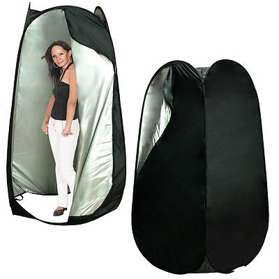 Black Portable Pop Up Dressing Room Model Changing Fitting Tent Outdoor Camping