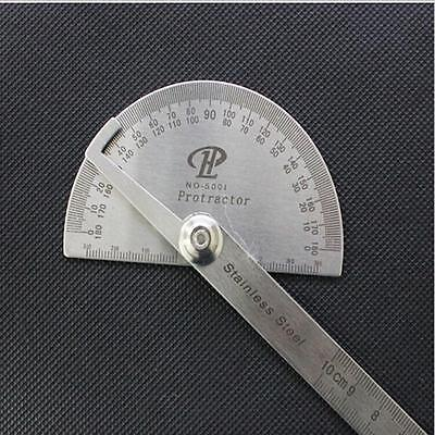 Practical Stainless Protractor Angle Gauge Finder Measuring Ruler Round Head W