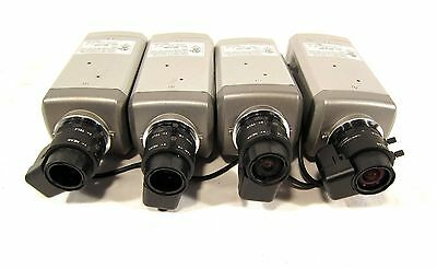 Lot of 4 Samsung SDC-313 CCD Color Video Security Camera System Cameras W/ Lens