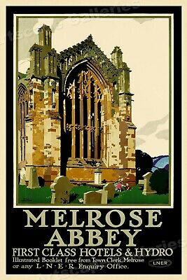 TU71 Vintage LNER Fountains Abbey North Yorkshire Railway Travel Poster A2 A3