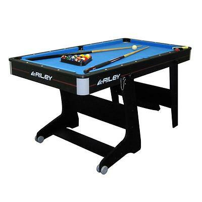 Billard Anglais Pool Table Pliable Portable Jeu Cafe Bar Bistrot Avec Roulettes