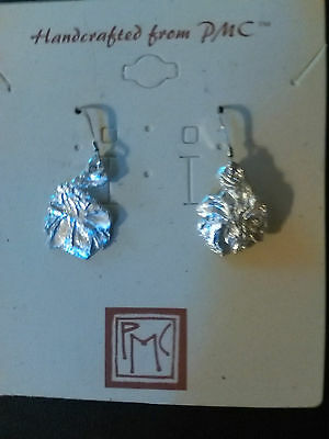 BEAUTIFUL BOTANICAL ART NOUVEAU INsPiRED IRIS PMC OOaK Earrings