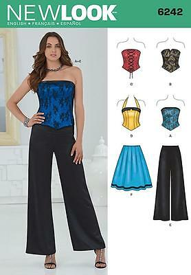 NEW LOOK SEWING PATTERN Misses' Corset Top, Pants & Skirt SIZE 4 - 16 6242