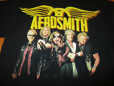 "2012 AEROSMITH The Global Warming"" Concert Tour (LG) T-Shirt STEPHEN TYLER"