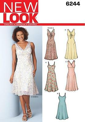 NEW LOOK SEWING PATTERN Misses Dress & Slip Dress SIZE 8 - 18 6244