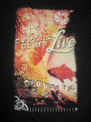 "2000 COUNTING CROWS ""LIVE"" LOCAL CREW Concert Tour (XL) T-Shirt"