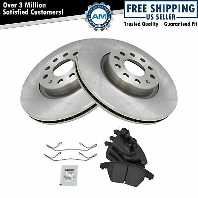 Nakamoto Front Ceramic Brake Pad & Rotor Set for A3 TT VW Eos Jetta GTI Passat