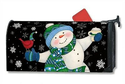 Frosty Fun Mail Box Wrap holiday snowman magnetic mailwrap mailbox cover