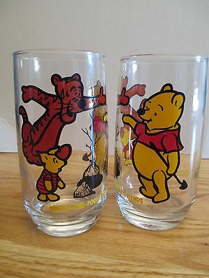 "1970s Walt Disney & SEARS WINNIE THE POOH and Friends 5"" Glass"